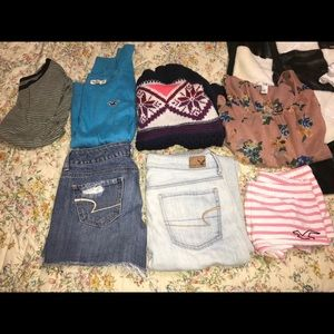BUNDLE american eagle, hollister, and other